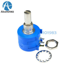 3590s 2 104l 100k Ohm Rotary Wirewound Precision Potentiometer Pot 10 Turn