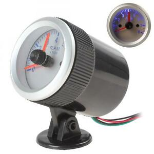 2 Inch 52mm 0 8000rpm Blue Led Auto Car Tachometer Tach Gauge With Holder Cup Us