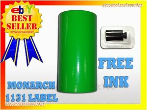 Fluorescent Green Label For Monarch 1131 Pricing Gun 1 Sleeve 8rolls