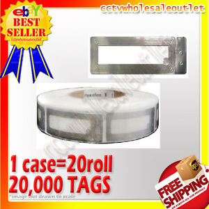 20000 Pcs Checkpoint Compatible Cosmetic Soft Label Tag Case 8 2mhz Fake Barcode
