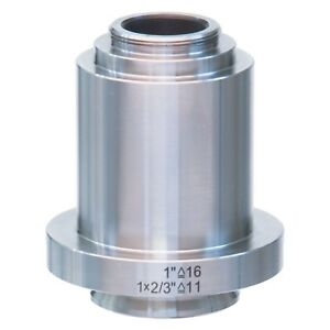1x Stainless Steel C mount Camera Adapter For Leica Microscopes