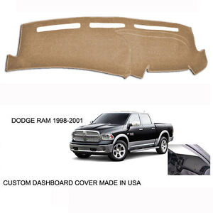 New Dodge Ram 1500 2500 Truck Custom Beige Tan Dashboard Dash Cover 1998 2001