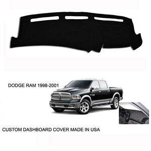 New Dodge Ram 1500 2500 Truck Custom Black Dashboard Dash Cover 1998 2001