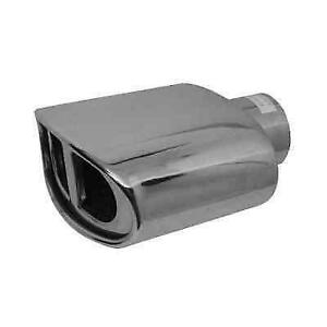 Jones Exhaust Jst118 Chrome Stainless Steel Resonated Oval Exhaust Tip