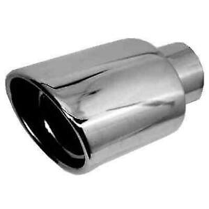 Jones Exhaust Jst081 Chrome Stainless Steel Rolled Oval Angle Exhaust Tip