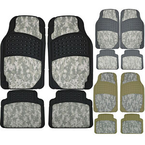 Digital Hunting Camo 4pc Camouflage Front Rear Suv Rubber Floor Mats Set