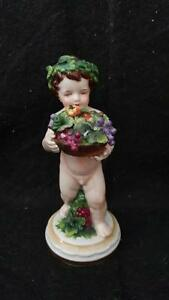 Antique Muller Volkstedt Porcelain Figurine Cherub Four Seasons Putti