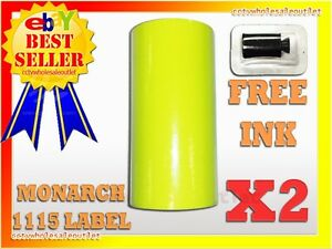 2sleeves Fluorescent Yellow Label For Monarch 1115 Pricing Gun 2sleeves 20rolls