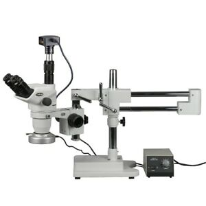 2x 180x Boom Stand Zoom Stereo Microscope With 80 led Light 18mp Digital Camer