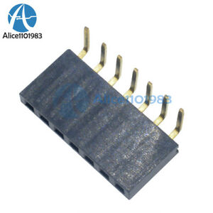 20pcs 2 54mm Pitch 1x7pin Header Right Angle Female Single Row Socket Connector