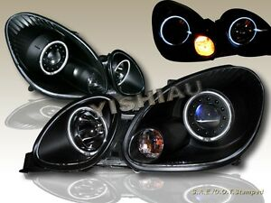 Fit For 1998 2005 Lexus Gs 300 400 430 Black Projector Headlights Twin Halo Ccfl