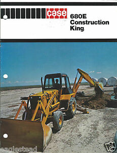 Equipment Brochure Case 680e Construction King Loader Backhoe e2975