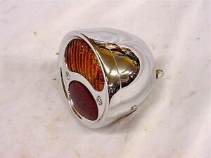 Vtg Antique Stop Tail Light Hot Rat Rod Hupmobile 1927 1928 1929 1930 1931 Hupp