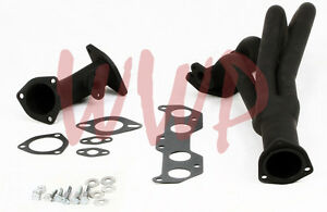 Black Coated Exhaust Header Kit For 96 00 Toyota Tacoma 2 7l 4wd prerunner 2wd