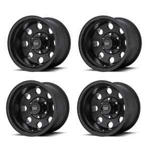 American Racing 172 Baja Ar1726835b 16x8 0mm Offset 5x135 Black Set Of 4 Rims