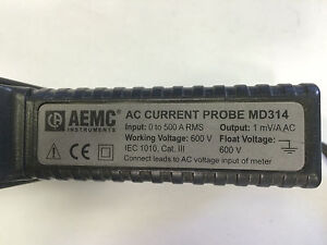 Aemc Ac Current Probe Md314 Used