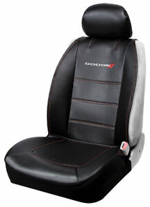 Dodge Ram Racing Elite Car Truck Suv Synthetic Leather Front Sideless Seat Cover
