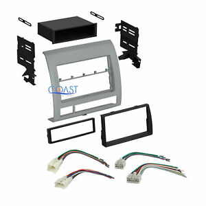Car Stereo Single Double Din Dash Kit Harness Combo For 2005 2011 Toyota Tacoma