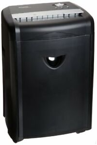12 Sheet High Security Micro Cut Paper Cd Credit Card Shredder Pullout Basket