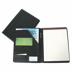 New Royce Leather Portfolio Padfolio With Inserted Note Pad And Folder