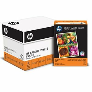 Hp Bright White Inkjet Paper 8 1 2 X 11 24 Lb 97 2500 Sheets 5 Ream Case 203000c