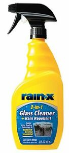 Rain X 5071268 6pk 2 In 1 Glass Cleaner With Rain Repellent 23 Oz Pack Of 6