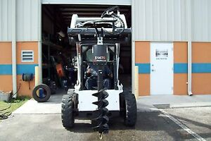 Skid Steer Auger Package Choice Of 9 Or 12 Bit Mcmillen X1475 All Gear Drive