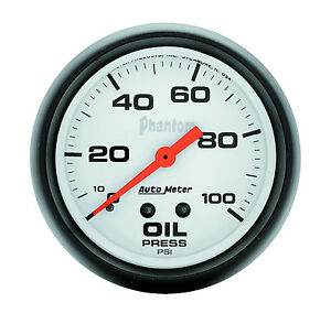 Auto Meter 5821 Phantom Mechanical 0 100 Psi Oil Pressure Gauge 2 5 8