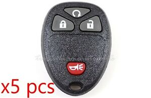 4 Button Keyless Entry Remote Fob Set Of 5