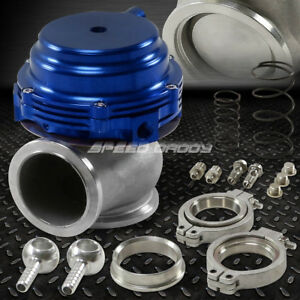 44mm Water Cooled 13psi V band Blue Turbo Manifold Exhaust External Wastegate