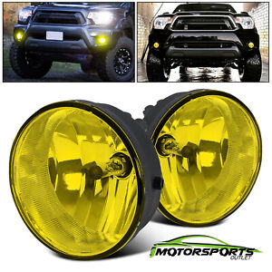 For 2005 2011 Toyota Tacoma 04 06 Solara Yellow Bumper Fog Lights Lamps Pair