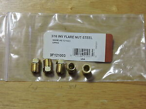 Steel Fitting 1 4 Od Brake Line Inverted Flare Nut 5 Pkg
