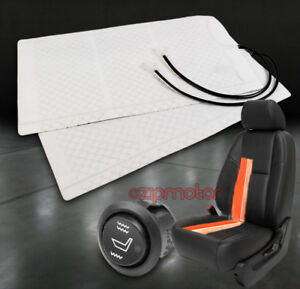 Heated Seat Heater Pads Kit W round Hi low Switch Durango Bronco Explorer Fusion