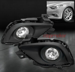 14 15 Mazda 6 Sedan 4dr Bumper Driving Fog Lights Lamps Chrome W Wiring Harness