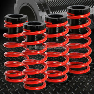 For 85 98 Vw Golf jetta Red 1 3 Adjustable Coilover Suspension Lowering Spring