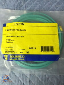 Lot Of 3 New In Package Medical Ground Cord Set P751n 15 30 Amp Plug 1 Ring Lug