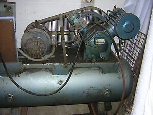 Ingersoll Rand Air Compressor Type 30 Model 253 5hp Motor Ser 30t 260097