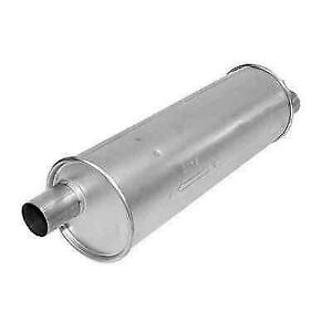 Ap Exhaust 709993 Universal Msl Maximum Round 24 Muffler With 2 Inlet outlet