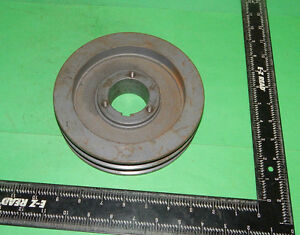 Double Groove Pulley Sheave 7 1 8 7 125 Outer Diameter