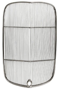 New 1932 Ford Hi boy Radiator Polished Grille Insert crank Hole stainless grill