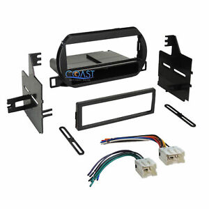 Car Radio Stereo Single Din Dash Kit Wire Harness For 2002 2004 Nissan Altima