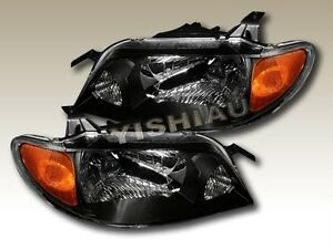 2001 2002 2003 Mazda Protege Jdm Blk Housing Headlights