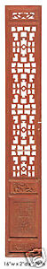 Antique Red Chinese Tall Wood Panel Screen Partition Panel Y602