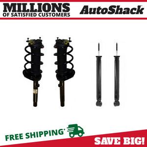 Complete 2 Front Struts 2 Rear Shocks W coil Spring Fits Bmw 323i E46 4pc