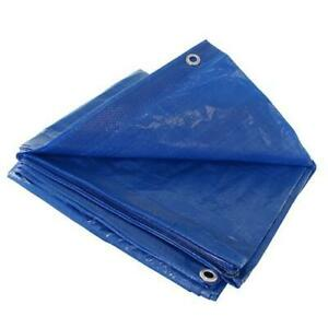 Blue 40x60 Heavy Duty Uv Protected Treated Canopy Sun Shade Boat Cover Tarp