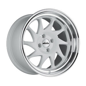 16x9 15 Whistler Kr7 4x100 White Wheel Fits Integra Mini Cooper S Jcw Stance