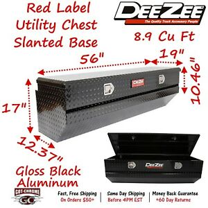 Dz8556b Dee Zee Aluminum Truck Toolbox Black Utility Chest Box 56