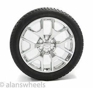 New Chevy Silverado Avalanche Chrome 22 Wheels Rims Tires Tpms