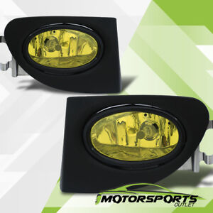 2002 2003 2004 2005 Honda Civic Si Hatchback Jdm Style Amber Fog Lights Pair