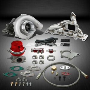 T04 63ar 400 hp Boost 6pc Turbo Charger manifold Kit For 03 05 Dodge Neon Srt4